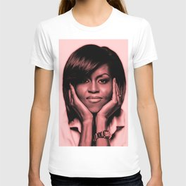 Michelle Obama - Celebrity Art (Sexy Eyes) T-shirt