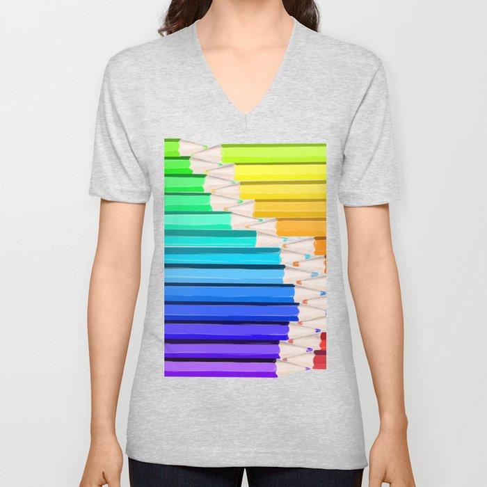 Rainbow of Creativity Unisex V-Neck