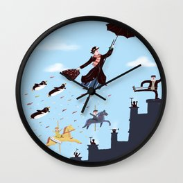 Let's fly away together on a magical adventure Wall Clock