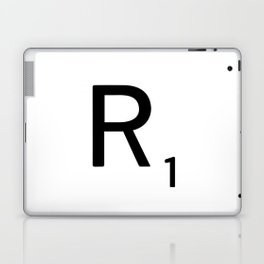 Letter R - Custom Scrabble Letter Tile Art - Scrabble R Initial Laptop & iPad Skin