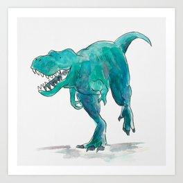 T-Rex Dinosaur Art Print