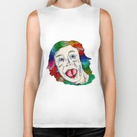 clown Biker Tanks featuring CLOWN by Masonjohnson