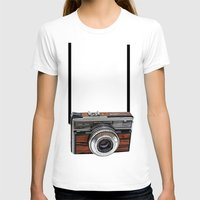 cameras T-shirts featuring Vintage cameras by Tish