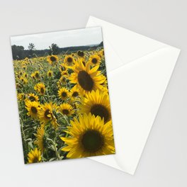 """""""Sunflower Field"""" Photography by Willowcatdesigns Stationery Cards"""