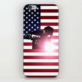 Welding: Welder & American Flag iPhone Skin