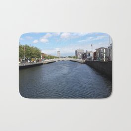 Crossing the River Liffey Bath Mat