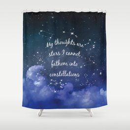 Thoughts and stars... Shower Curtain