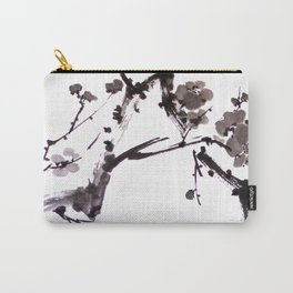 Plum blossom sumie ink painting Carry-All Pouch
