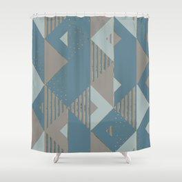 Blueprint Geometric Pattern 2 Shower Curtain