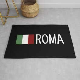 Italy: Italian Flag & Roma Rug