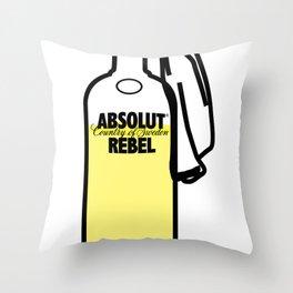 Absolut Rebel Throw Pillow
