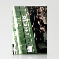john green Stationery Cards featuring John Deere by Captive Images Photography
