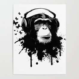 Monkey Business - White Poster