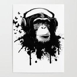 Monkey Business - White Poster