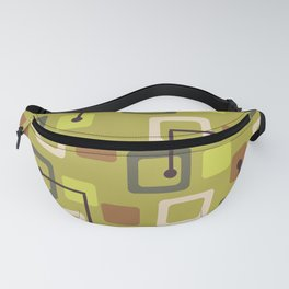 Midcentury 1950s Tiles & Squares Chartreuse Fanny Pack