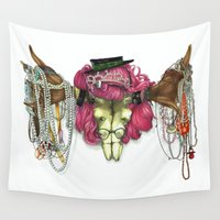 moose Wall Tapestries featuring Moose by hannoia