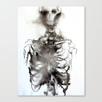 bones Canvas Prints featuring Bones by dannimarie