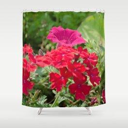 Blossom Reds Shower Curtain