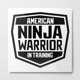American Ninja Warrior In Training Metal Print