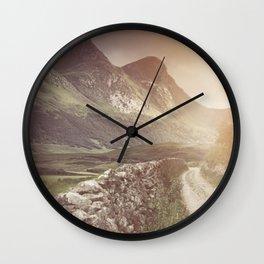 Hazy Landscape Wall Clock