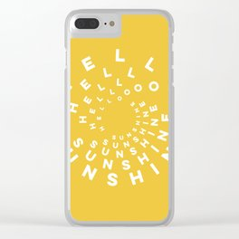 Hello Sunshine #minimal #typography #summervibes Clear iPhone Case