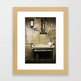 The quiet harmony of decay Framed Art Print