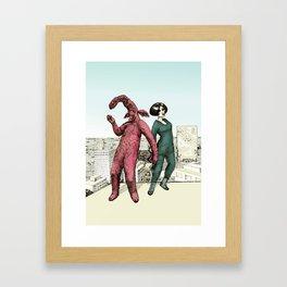 Dancing on the roof Framed Art Print