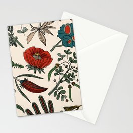 Pattern from field flowers and herbs Stationery Cards