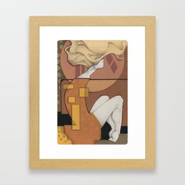 wood composition - waiting  Framed Art Print