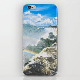 rainbow over waterfalls iPhone Skin