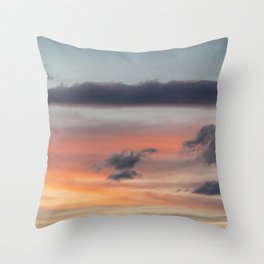 colorful · cloud photography Throw Pillow