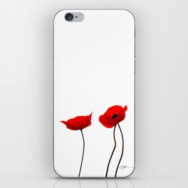 Simply poppies iPhone Skin