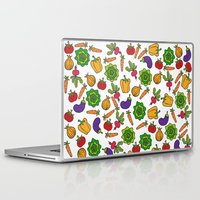 vegetables Laptop & iPad Skins featuring Vegetables by Alisa Galitsyna