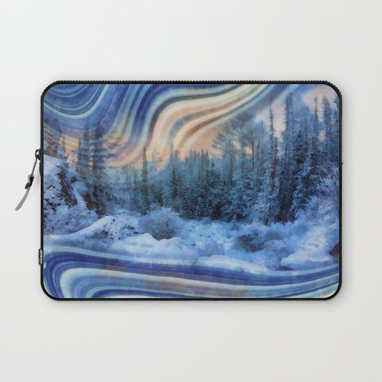 Surreal winter forest Laptop Sleeve