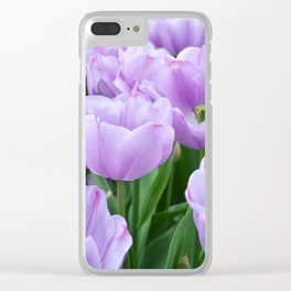 Mauve tulips Clear iPhone Case