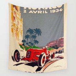 1934 Monaco Grand Prix Wall Tapestry