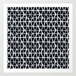 Black Angles Art Print