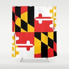 Maryland State Flag Art Print Shower Curtain