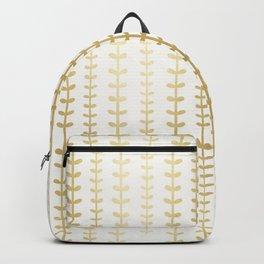 Minimalist gold vines pattern Backpack