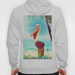 Vintage Pelican on the beach Hoody