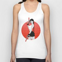 tomb raider Tank Tops featuring Duck Raider by Lily's Factory