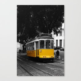 Catching the Trolly Canvas Print