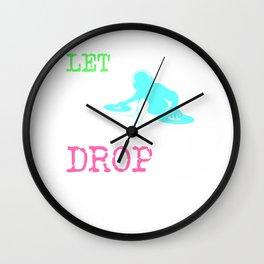 Let The Beat Drop | Loud Neon Design - Club Tee Wall Clock