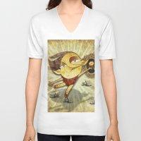 ballet V-neck T-shirts featuring Ballet by José Luis Guerrero