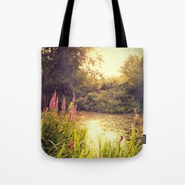Golden end of a day Tote Bag