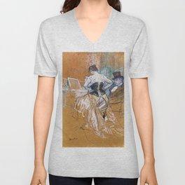Henri Toulouse Lautrec / Augustins - Conquête de passage 1896 Unisex V-Neck