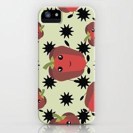 Cute red pepper iPhone Case