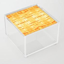 Satin Shibori Yellow Acrylic Box