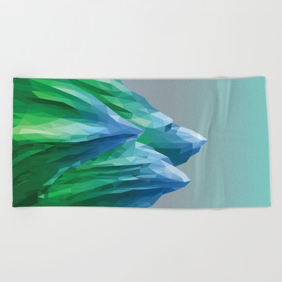 Night Mountains No. 40 Beach Towel