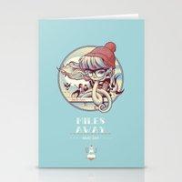 miles davis Stationery Cards featuring MILES AWAY by MFK00 aka Alex Arizmendi